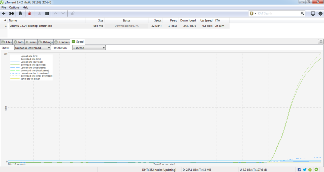 initializing download utorrent