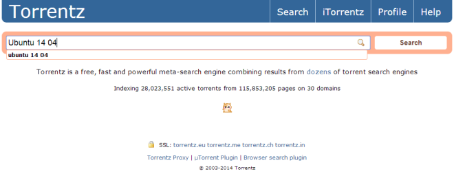search on torrentz.eu