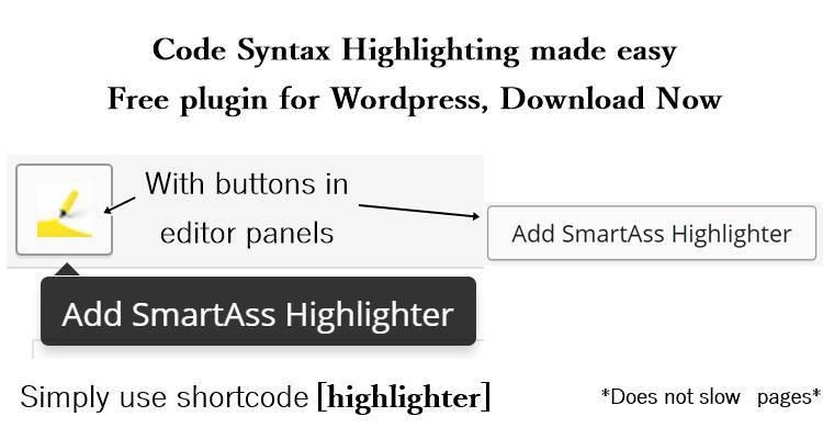 SmartAss Highlighter - A beautifying plugin for wordpress