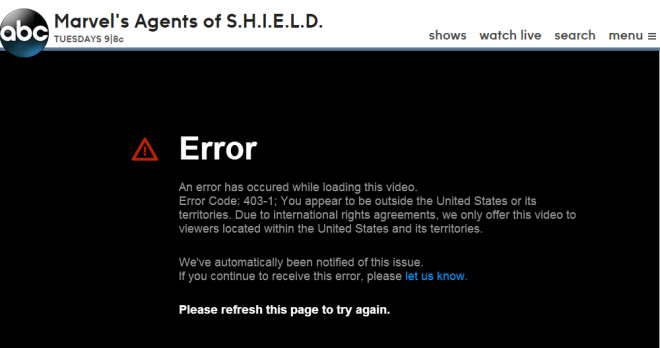 Blocked Video on Channel ABC