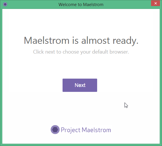 Installing Maelstrom browser