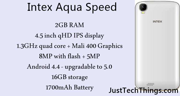 Intex Aqua Speed Smartphone