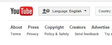 Youtube language settings