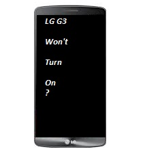 What to do when your smart phone won't turn on? | LG G3